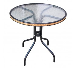 Кофейный столик круглый Nicol D-80 TLH-087А/В-80 капучино