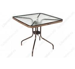 Кофейный столик квадратный Nicol В-80x80 см капучино TLH-073А/В-80
