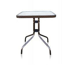 Кофейный столик квадратный Assol TLH-073А/В-60 орех