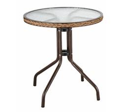 Кофейный столик круглый Assol TLH-087A/В-60 D60 капучино