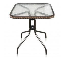 Кофейный столик квадратный Assol TLH-073А/В-60 капучино