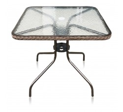 Кофейный столик квадратный Nicol В-80x80 см орех TLH-073А/В-80
