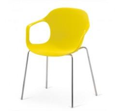 Кресло пластиковое Larry Yellow XRB-078-BY