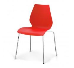 Стул пластиковый Polly red SHF-01-R