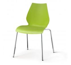 Стул пластиковый Polly green SHF-01-G