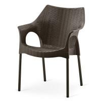 Кресло искусственый ротанг Frost Chocolate XRB-066A