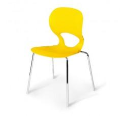 Стул пластиковый Kony yellow SHF-056-Y