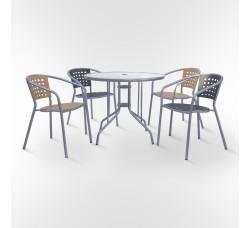 Комплект мебели для кафе ХRB-042В-D90-2