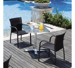 Комплект мебели (иск. ротанг) 2 стула +1 стол LFT-3125A-Y282А-(W52)
