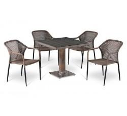 Комплект садовой мебели 4+1 (иск. ротанг) T-503SG|Y-35G-W1289