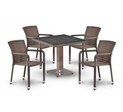 Комплект садовой мебели 4+1 (иск. ротанг) T-503SG-A2001G-W1289