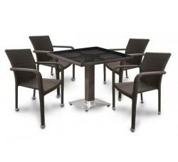 Комплект садовой мебели 4+1 (иск. ротанг) T-506SW-A2001B-W53