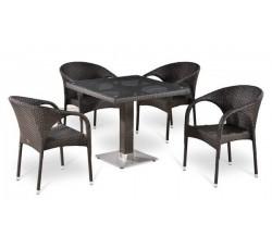 Комплект садовой мебели 4+1 (иск. ротанг) T-506SW|Y-290W-W2390