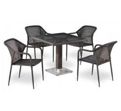 Комплект садовой мебели 4+1 (иск. ротанг) T-506SW|Y-35W-W2390