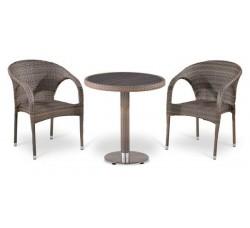 Комплект садовой мебели 2+1 (иск. ротанг) T501DG-Y290BG-W1289