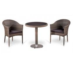 Комплект садовой мебели 2+1 (иск. ротанг) T501DG-Y350G-W1289