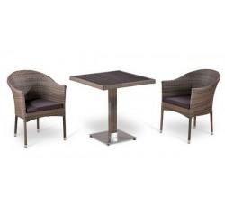 Комплект садовой мебели 2+1 (иск. ротанг) T502DG-Y350G-W1289