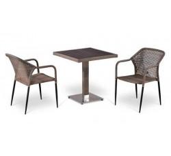 Комплект садовой мебели 2+1 (иск. ротанг) T502DG-Y35G-W1289