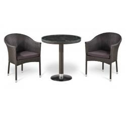 Комплект садовой мебели 2+1 (иск. ротанг) T504-Y350W-W2390