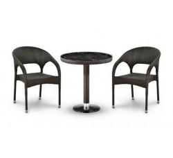 Комплект садовой мебели 2+1 (иск. ротанг) T504-Y90C-W2390