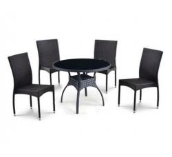 Комплект дачной мебели T247A-1/Y-292А (4 стула и 1 стол)