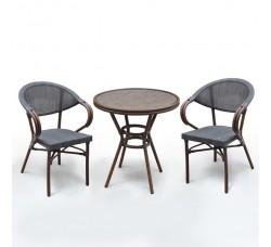 Комплект дачной мебели А1007-D2003S (2 кресла, стол)