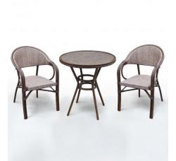 Комплект дачной мебели А1007-D2003 (2 кресла, стол)