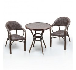 Комплект дачной мебели А1007-D2003SR (2 кресла, стол)