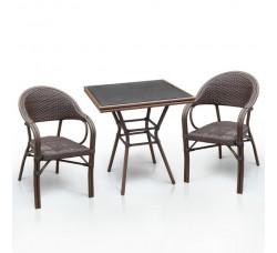 Комплект дачной мебели А1016-D2003SR (2 кресла, стол)