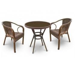 Комплект садовой мебели 2+1 (иск. ротанг) A1007-A2010A