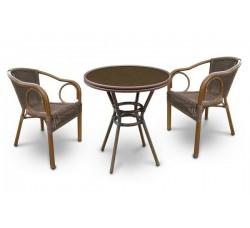 Комплект садовой мебели 2+1 (иск. ротанг) A1007-A2010B