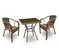 Комплект садовой мебели 2+1 (иск. ротанг) A1016-A2010A
