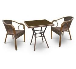 Комплект садовой мебели 2+1 (иск. ротанг) A1016-A2010B