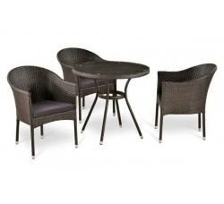 Комплект садовой мебели 3+1 (иск. ротанг) T283ANT-Y350-W51