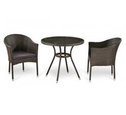 Комплект садовой мебели 2+1 (иск. ротанг) T283ANT-Y350-W51
