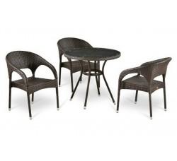 Комплект садовой мебели 3+1 (иск. ротанг) T283ANT-Y90B-W51