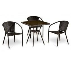 Комплект садовой мебели 3+1 (иск. ротанг) T283BNT|Y-137C3PCS-W51
