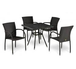 Комплект садовой мебели 4+1 (иск. ротанг) T-283BNT|Y-282A -W2390