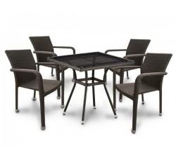 Комплект садовой мебели 4+1 (иск. ротанг) T283BNT-A2001B4PCS-W53
