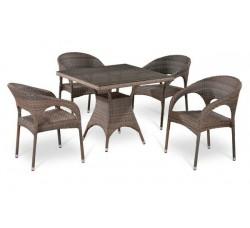 Комплект садовой мебели 4+1 (иск. ротанг) T-220BG-Y-90CG-W1289