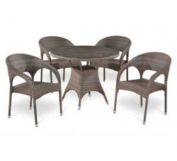 Комплект садовой мебели 4+1 (иск. ротанг) T-220CG|Y-90CG-W1289