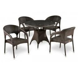 Комплект садовой мебели 4+1 (иск. ротанг) T-220CT-Y-90C-W51