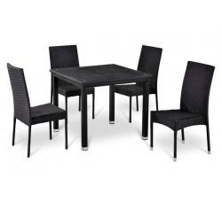 Комплект садовой мебели 4+1 (иск. ротанг) T-246S-Y191-W5