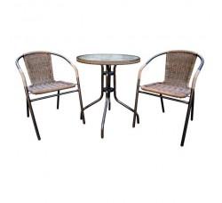 Набор мебели Асоль-1А (иск. ротанг) капучино