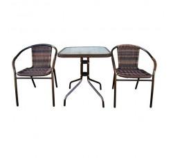 Набор мебели Асоль-2В (иск. ротанг) орех