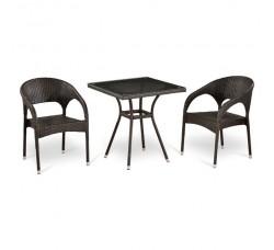 Комплект мебели (иск. ротанг) (2+1) (Т282BNT (W51)- Y90С-(W51))