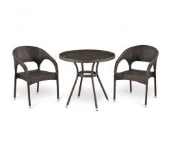 Комплект мебели (иск. ротанг) (2+1) T282ANT-Y90B-W51