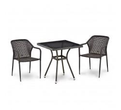 Комплект мебели для террасы (иск. ротанг) (2+1) Т282BNT-Y35-W2390