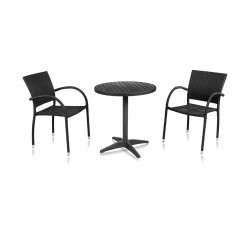 Набор мебели (иск. ротанг) Siena-1 T-159A Y-272 BLACK