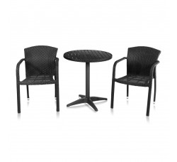 Набор мебели (иск. ротанг) Milano-2 (T-159A Y-95) BLACK